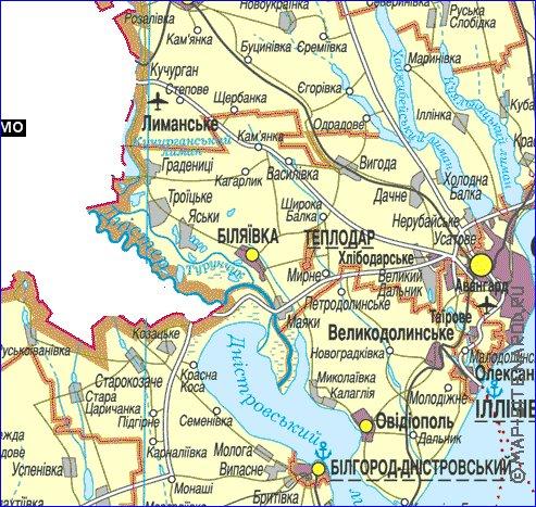 карта одесской области подробная с городами и поселками Термоноски Термобелье